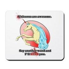 Unicorns are awesome Mousepad