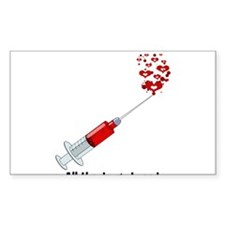 Love syringe Decal