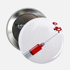 "Love syringe 2.25"" Button"
