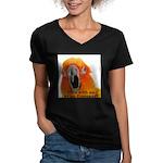 Sun Conure Steve Duncan Women's V-Neck Dark T-Shir