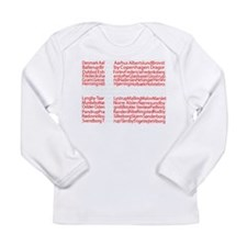 Danish Cities Flag Long Sleeve Infant T-Shirt