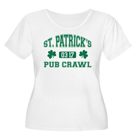 Pub Crawl 03/17 Women's Plus Size Scoop Neck T-Shi