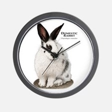 Domestic Rabbit Wall Clock