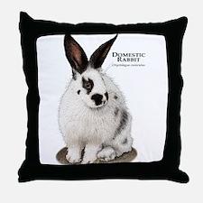 Domestic Rabbit Throw Pillow
