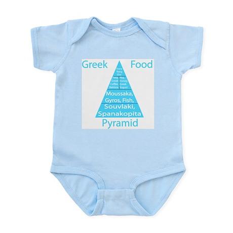 Greek Food Pyramid Infant Bodysuit