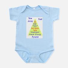 New Jersey Food Pyramid Infant Bodysuit