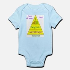 New Orleans Food Pyramid Infant Bodysuit