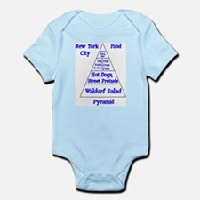 New York City Food Pyramid Infant Bodysuit