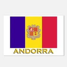 Andorra Flag Gear Postcards (Package of 8)