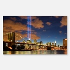 WTC Lights Brooklyn Bridge Rectangle Decal