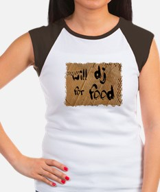 Will DJ For Food Women's Cap Sleeve T-Shirt