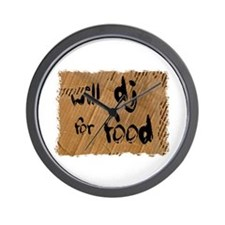 Will DJ For Food Wall Clock