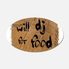 Will DJ For Food Wall Decal