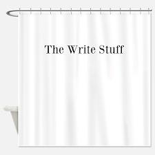 The Write Stuff Shower Curtain