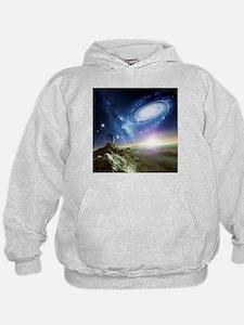 Colliding galaxies, artwork - Hoodie