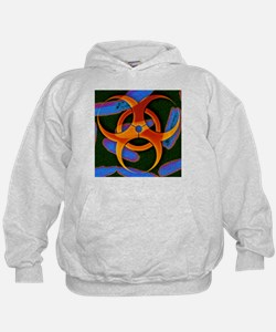 Anthrax bacteria and biohazard symbol - Hoodie