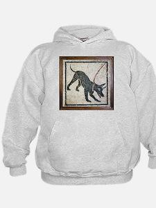 Roman guard dog mosaic - Hoodie