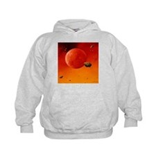 Asteroids fall towards the early Earth - Hoodie