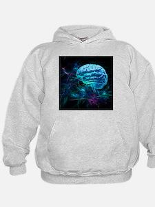 Brain research, conceptual artwork - Hoodie