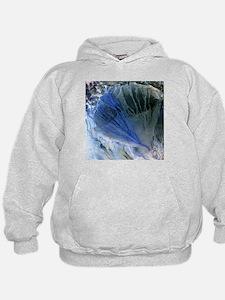 Desert alluvial fan, satellite image - Hoodie