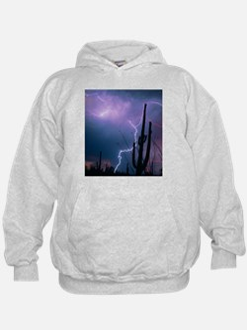 Lightning storm over Tucson, Arizona - Hoodie
