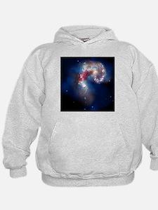 Antennae galaxies, composite image - Hoodie