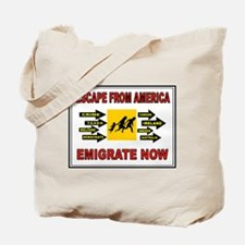 EMIGRATE NOW Tote Bag