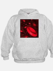 Red blood cells, artwork - Hoodie