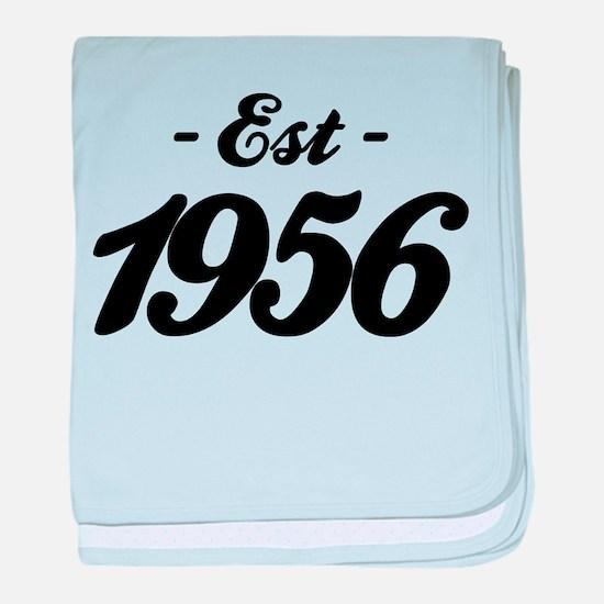 Established 1856 - Birthday baby blanket