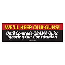 Pro Second Amendment Bumper Sticker