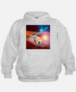 Collision between solar systems - Hoodie