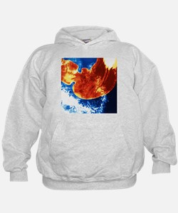 Coloured X-ray of a healthy human stomach - Hoodie