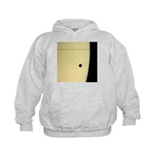 Saturn and its moon Tethys, Cassini image - Hoodie