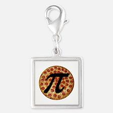 Pizza Pi Silver Square Charm