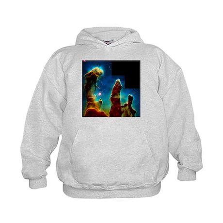 Gas pillars in Eagle Nebula - Kids Hoodie