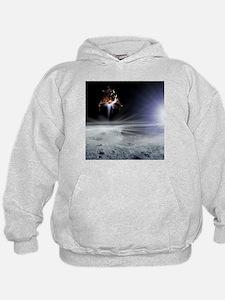 Apollo 11 Moon landing, computer artwork - Hoodie