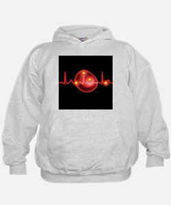 ECG and red blood cell - Hoodie