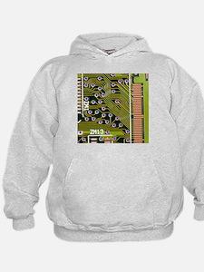Macrophotograph of printed circuit board - Hoodie