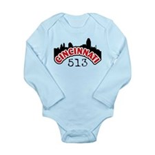 Cincinnati Area Code Long Sleeve Infant Bodysuit