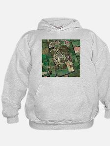 Menwith Hill spy base, aerial image - Hoodie