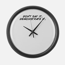 Demonstrate Large Wall Clock