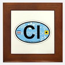 Captiva Island - Oval Design. Framed Tile