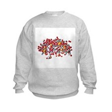 Insulin molecule, computer artwork - Sweatshirt