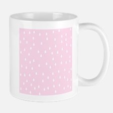 Rain Drop Pattern, Pink. Mug