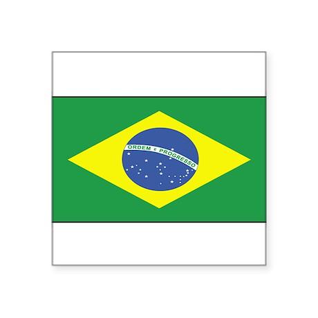 Brazil Flag Decal Rectangle Sticker