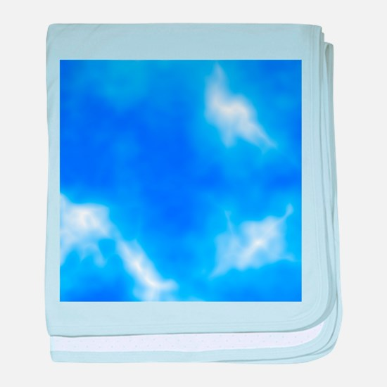 Blue Sky Picture. baby blanket
