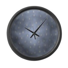Rain Storm. Large Wall Clock