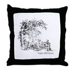 Music in the Wild Throw Pillow
