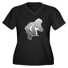 DJ Guy Women's Plus Size V-Neck Dark T-Shirt