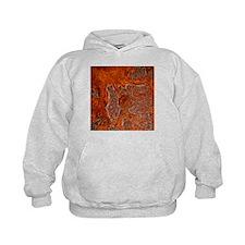 Rust seen on a steel sheet - Hoodie